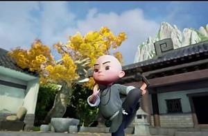 一禅小和尚 竟敢在师傅头上玩五子棋,真会玩 搞笑动画