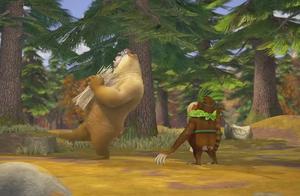 吉吉夸下海口自己是国王熊二是臣民 熊二却不给面子对他置之不理
