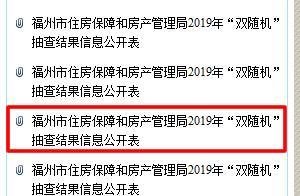 """福州房管局公布市区三个在售楼盘""""双随机""""抽查结果"""