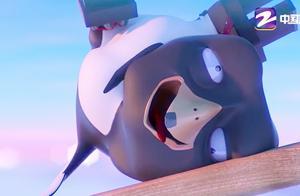 吃饭睡觉打豆豆:豆豆玩跷跷板上瘾,可怜了小企鹅,被摔惨了