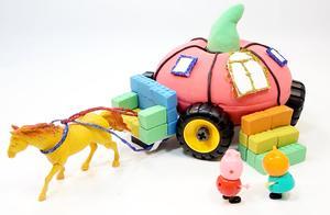 亲子早教益智玩具,创意手工DIY太空沙南瓜马车!