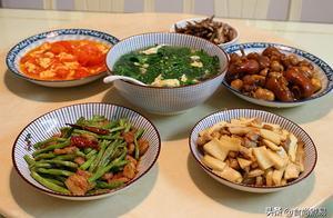 这桌简单家常菜,烹调快速接地气,荤素搭配营养均衡,美味又实惠