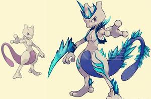 """神奇宝贝,超梦的4种不同属性""""mega进化"""",你最喜欢哪种?"""