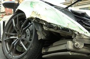 """兰博基尼""""飞""""向对向车道,连撞3辆车才停下,车损超过上百万!"""