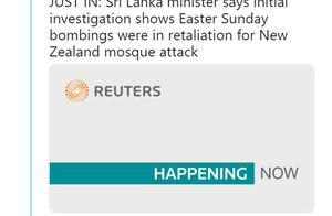 果然!斯里兰卡防长称连环袭击系对新西兰恐袭的报复