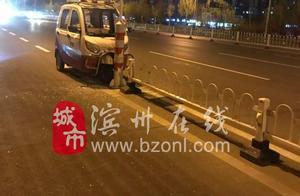 突发!滨州这里发生一起严重车祸,一位环卫工被撞倒在地,肇事者......