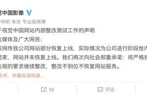 视觉中国否认网站部分恢复上线:仅为整改内测 不到位不恢复