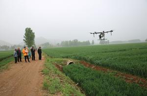 啥叫现代农业?20多架无人机一起撒农药 场面壮观