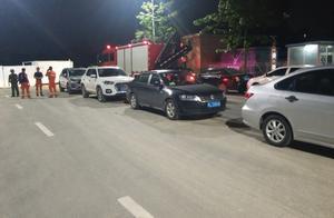 深圳一消防队出警归来进不去营房,全因被违停社会车辆挡住了入口