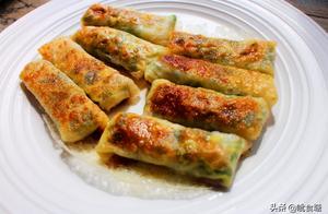 春吃韭菜正当时 不用和面不用揉 韭菜盒子这样做 一口气吃五个