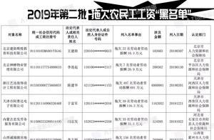 人社部发布2019年第二批拖欠农民工工资黑名单,吉林认定两家