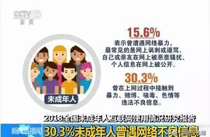 触目惊心!30.3%未成年人曾遭遇网络不良信息