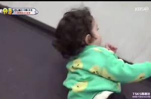 「超人回来了」建厚跳蹦床这一段全程高能,这个宝宝也太可爱了吧