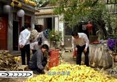 朱之文在家里剥玉米,银行的人找上门帮忙理财
