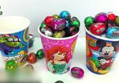 巴斯光年拆巧克力豆奇趣杯 迪士尼公主玩具
