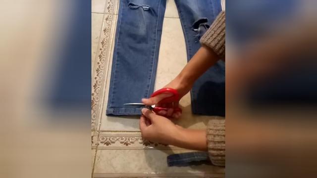 用什么方法能使牛仔裤磨毛
