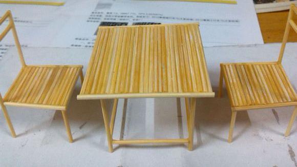 用牙签做的桌椅子算是科学小制作么