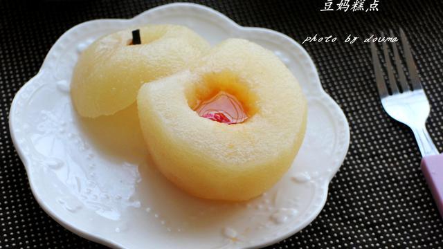 冰糖蒸梨的做法