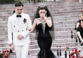 抖音黑婚纱新娘是谁 个人资料遭扒与老公办独特婚礼有隐情