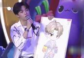Ninepercent组合出席活动,陈立农画出了他眼中的蔡徐坤!