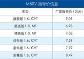 2018成都车展:2019款启辰M50V上市 6.58万起售