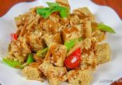 第一美食:河南人爱吃的面筋,厨师长亲自操作,凉拌出来的更开胃