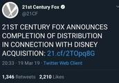 迪士尼正式收购福克斯!网友:原来米老鼠才是灭霸