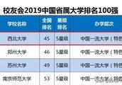 公布!2019中国省属大学排名:西北大学位列全国第1