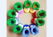 怎样用棒针毛线手工织儿童衣服卡通猫的方法