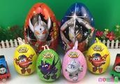 超级飞侠酷雷玩具蛋拆封!托马斯和他的朋友分享奥特曼奇趣蛋