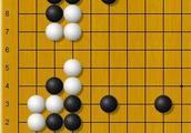 黑先,实战常型,白棋的棋型似乎很完整,但是……