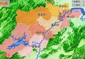 浙江杭州1市2县以及千岛湖高清地图