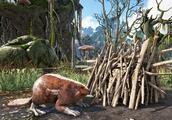 侏罗纪方舟生存 水晶岛31 沼泽掏河狸窝 窝里面竟然还藏有珍珠!