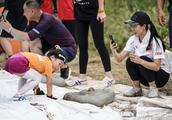 申雪赵宏博夫妇送孩子参加英菲尼迪斯巴达勇士儿童赛