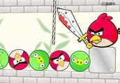 愤怒的小鸟,如何割掉绳子才能踢出捣蛋猪而不伤害小鸟
