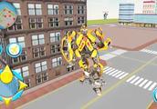 变形金刚机械鲨:狂野的大黄蜂在街头消灭什么对手?