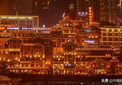 船游重庆洪崖洞,看吊脚楼夜色美,这个角度更迷人