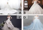 下面四件婚纱,选一件你喜欢的,测试年龄相差几岁的异性最适合你
