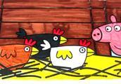 儿童简笔画:小猪佩奇看看小母鸡笼子