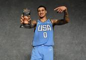 NBA全明星新秀赛,美国队击败世界队,湖人队库兹马荣获MVP