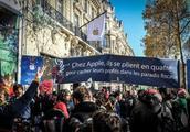 苹果在巴黎开店惨遭抗议 为何群众反映如此激烈