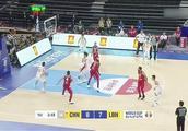 中国男篮对黎巴嫩,郭艾伦送出世界级击地妙传阿布沙拉木得分!