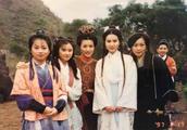 剧照:97版《天龙八部》未公开合影,原来美的不止王语嫣