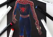 蜘蛛侠狂热粉笔下的蜘蛛侠,满满都是爱,你最喜欢哪位超级英雄?