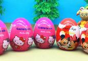 花园宝宝分享kitty猫奇趣蛋 迪士尼米奇妙妙屋玩具蛋