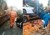 突发!大广高速发生28车连环相撞,事故已致3死10伤