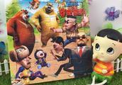 熊出没之夺宝熊兵积木拼图玩具大头儿子