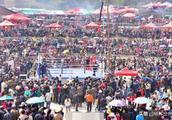 世界拳王熊朝忠家乡举办拳击比赛!万人观赛现场震撼!