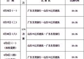 CBA季后赛1/4决赛赛程表 广东VS江苏 辽宁VS福建