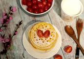 快速早餐饼:一杯玉米面加个蛋,筷子一搅,一滴油不放,超完美!